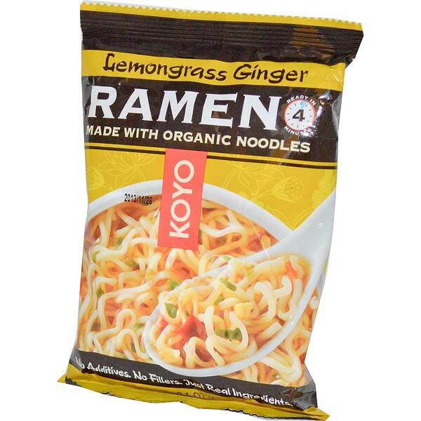 Koyo Natural Foods, Lemongrass Ginger Ramen, 2.1 oz (60 g)