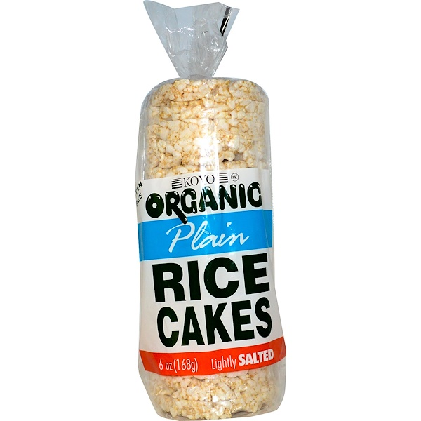 Koyo Natural Foods, Organic Plain Rice Cakes, Lightly Salted, 6 oz (168 g) (Discontinued Item)