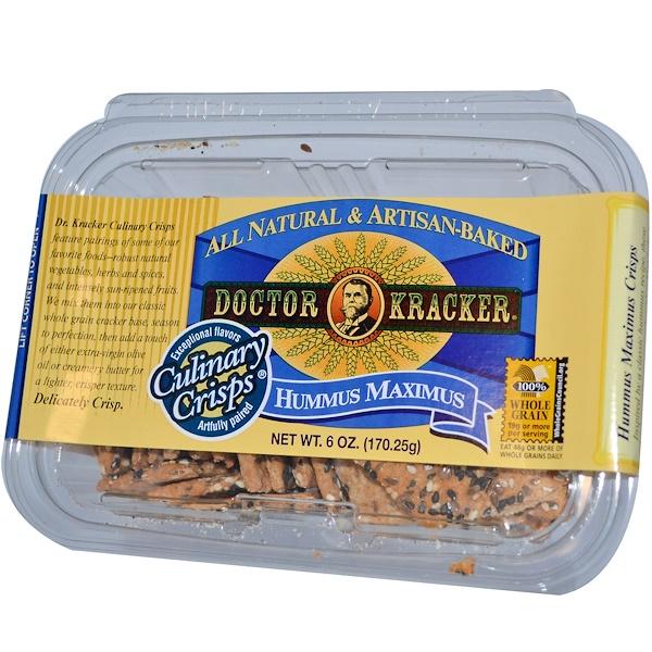 Dr. Kracker, Culinary Crisps, Hummus Maximus, 6 oz (170.25 g) (Discontinued Item)