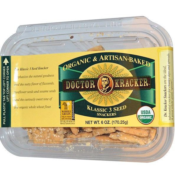 Dr. Kracker, Seedlander Snackers, 6 oz (170.25 g) (Discontinued Item)