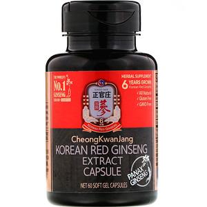 Cheong Kwan Jang, Korean Red Ginseng Extract, 60 Soft Gel Capsules отзывы