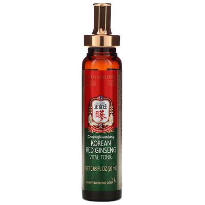 Купить Cheong Kwan Jang Korean Red Ginseng Vital Tonic, 10 Bottles, 0.68 fl oz (20 ml) Each