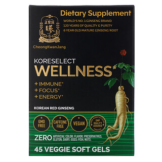 Cheong Kwan Jang, Koreselect, Wellness, 45 Veggie Soft Gels