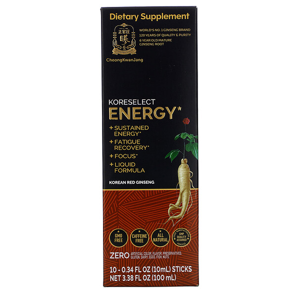 Cheong Kwan Jang, Koreselect, Energy, 10 Sticks, 0.34 fl oz (10 ml) Each