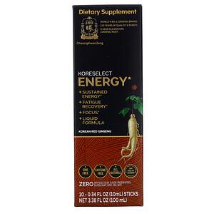Cheong Kwan Jang, Koreselect, Energy, 10 Sticks, 0.34 fl oz (10 ml) Each отзывы