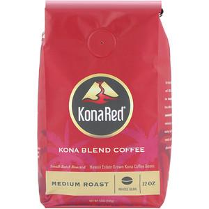 KonaRed, Kona Blend Coffee, Medium Roast, Whole Bean, 12 oz (340 g) отзывы