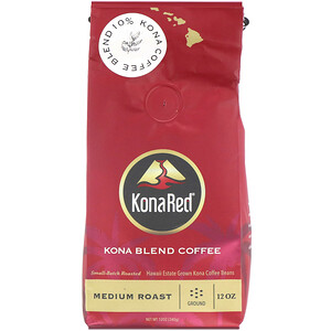 KonaRed, Kona Blend Coffee, Medium Roast, Ground, 12 oz (340 g) отзывы