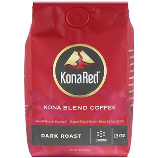 KonaRed Corp, Kona Blend Coffee, Dark Roast, Ground, 12 oz (340 g)