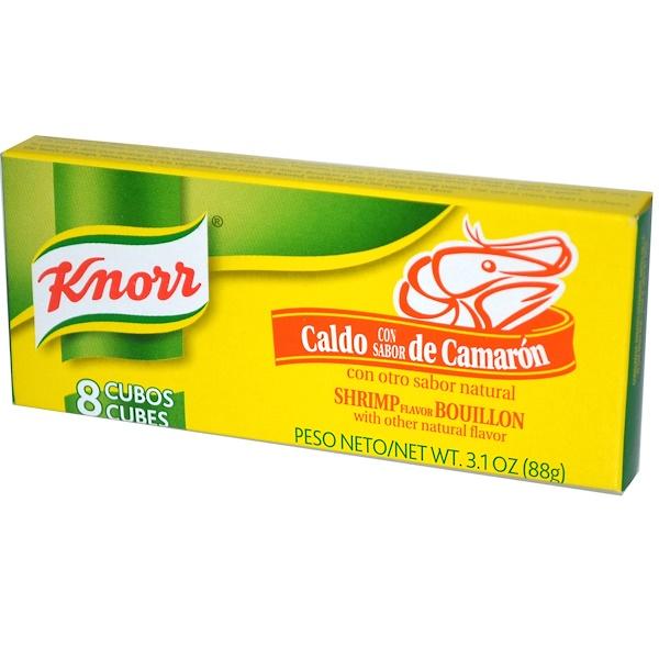 Knorr, Shrimp Flavor Bouillon, 8 Cubes, 3.1 oz (88 g) (Discontinued Item)