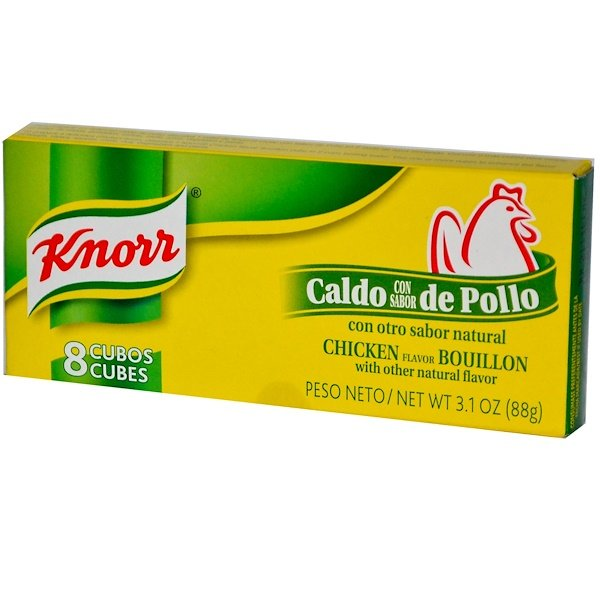 Knorr, Chicken Flavor Bouillon, 8 Cubes, 3.1 oz (88 g) (Discontinued Item)
