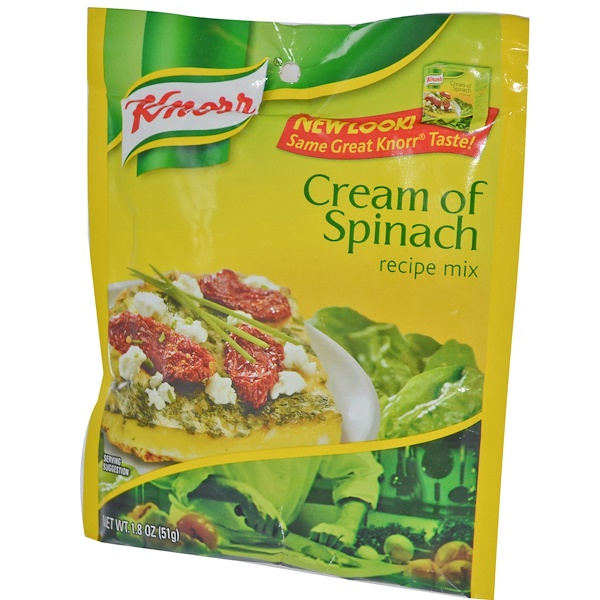 Knorr, Cream of Spinach Recipe Mix, 1.8 oz (51 g) (Discontinued Item)