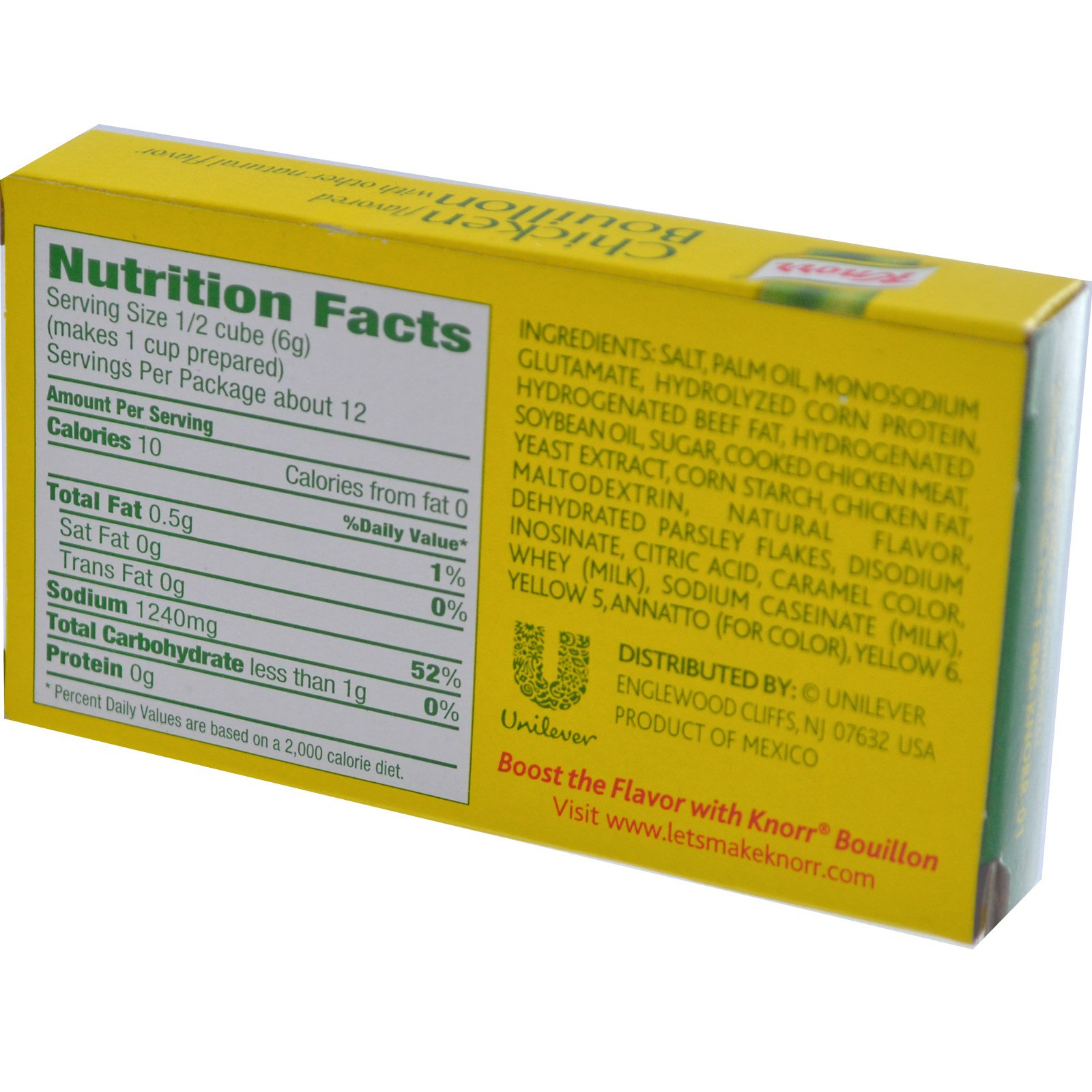 Knorr, Chicken Flavored Bouillon, 6