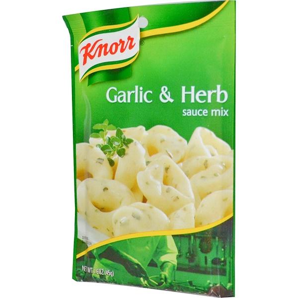 Knorr, Смесь для соуса Чеснок и травы, 1,6 унции (45 гр) (Discontinued Item)