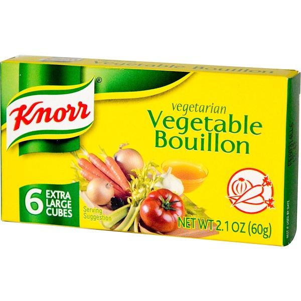 Knorr, Вегетарианский овощной бульон, на 6 больших кубиков больше, 2.1 унций (60 г) (Discontinued Item)