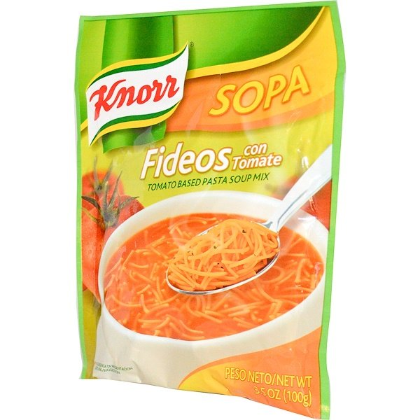 Knorr, Fideos, Tomato Based Pasta Soup Mix, 3.5 oz (100 g) (Discontinued Item)