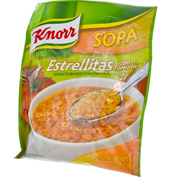 Knorr, Estrellitas, Tomato Based Star Pasta Soup Mix, 3.5 oz (100 g) (Discontinued Item)