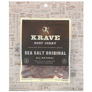 Krave, Beef Jerk, Sea Salt Original, 2.7 oz (76 g)