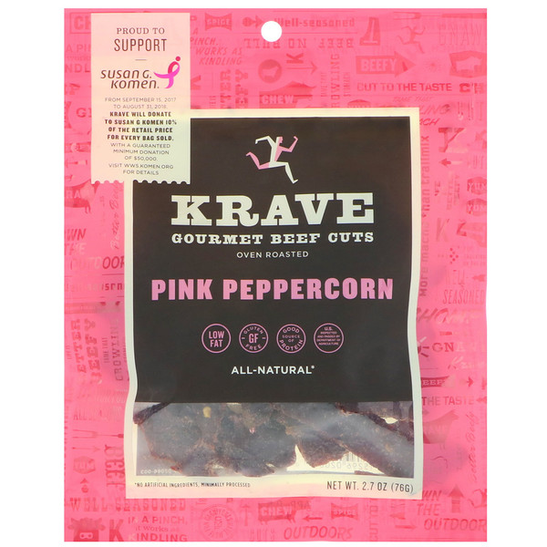 Krave, Gourmet Beef Cuts, Pink Peppercorn, 2.7 oz (76 g) (Discontinued Item)
