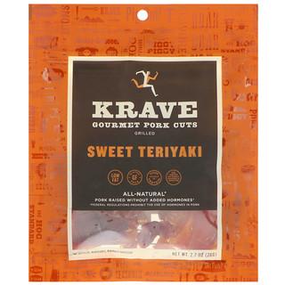 Krave, Gourmet Pork Cuts, Sweet Teriyaki, 2.7 oz (76 g)