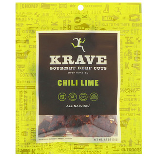 Krave, Gourmet Beef Cuts, Chili Lime, 2.7 oz (76 g)