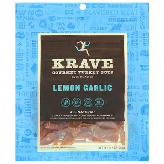 Krave, Gourmet Turkey Cuts, Lemon Garlic, 2.7 oz (76 g)