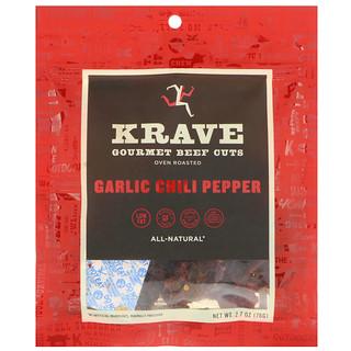 Krave, Gourmet Beef Cuts, Garlic Chili Pepper, 2.7 oz (76 g)