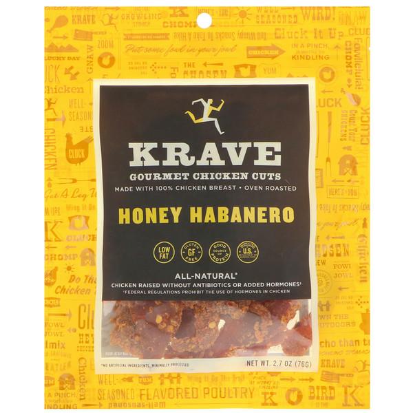 Krave, Gourmet Chicken Cuts, Honey Habanero, 2、7 oz (76 g)