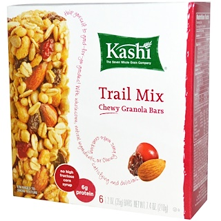Kashi, Chewy Granola Bars, Trail Mix, 6 Bars, 1.2 oz (35g)