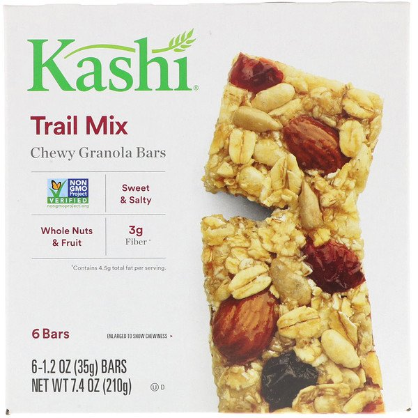 Chewy Granola Bars, Trail Mix, 6 Bars, 1.2 oz (35g)