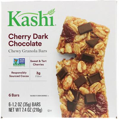 Купить Вкусные жевательные батончики с темным шоколадом со вкусом вишни, 6-2шт, 1.2 унций (35 г)