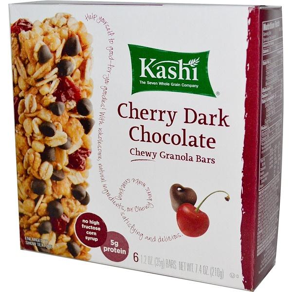 Kashi, Chewy Granola Bars, Cherry Dark Chocolate, 6 Bars, 1.2 oz (35 g) Each