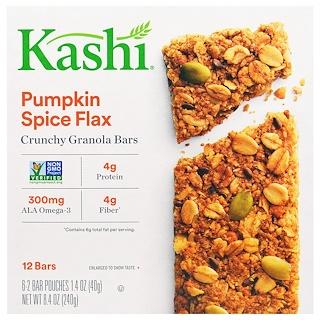 Kashi, Crunchy Granola Bars, Pumpkin Spice Flax, 6 Bars, 1.4 oz (40 g) Each