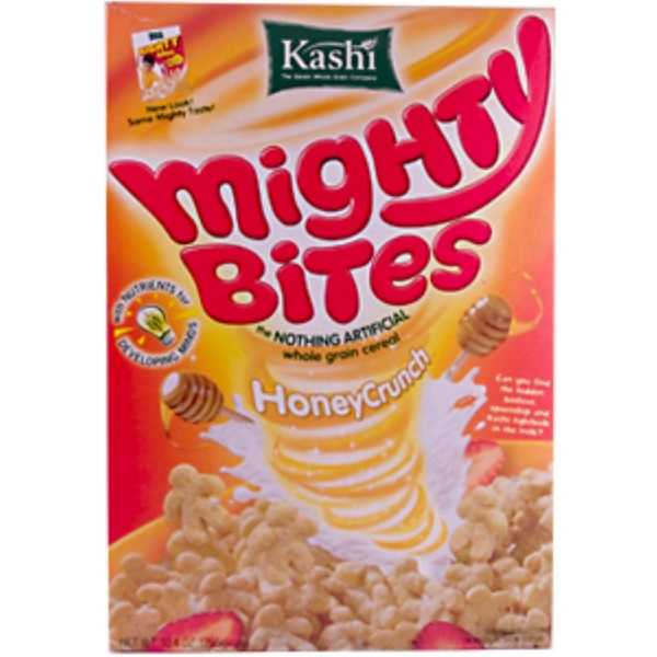 Kashi, Mighty Bites, the Nothing Artificial Whole Grain Cereal, Honey Crunch, 10.4 oz (295 g) (Discontinued Item)