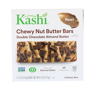 Каши, Chewy Nut Butter Bars, Double Chocolate Almond Butter, 5 Chewy Bars, 1.23 oz (35 g) Each отзывы