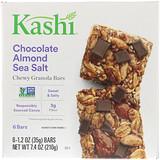 Отзывы о Kashi, Жевательные батончики с гранолой, шоколад, миндаль и морская соль, 6 батончиков, 1,2 унц. (35 г) каждый