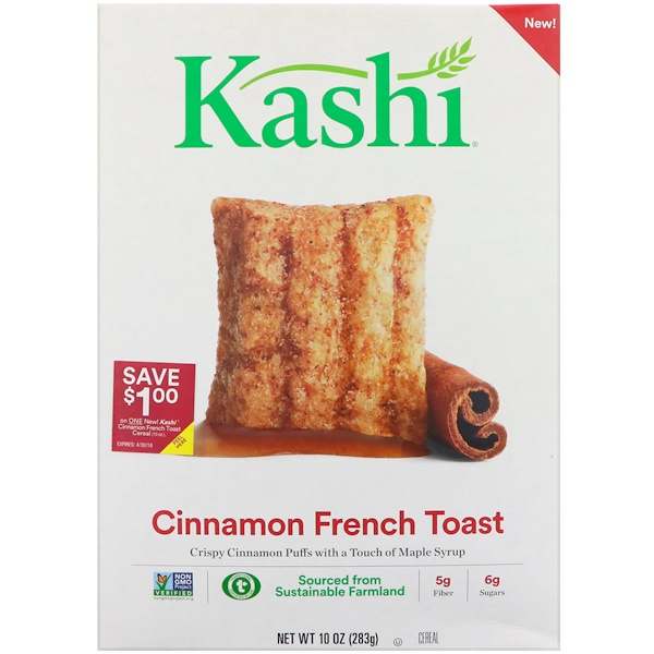 Kashi, Cinnamon French Toast Cereal, 10 oz (283 g)