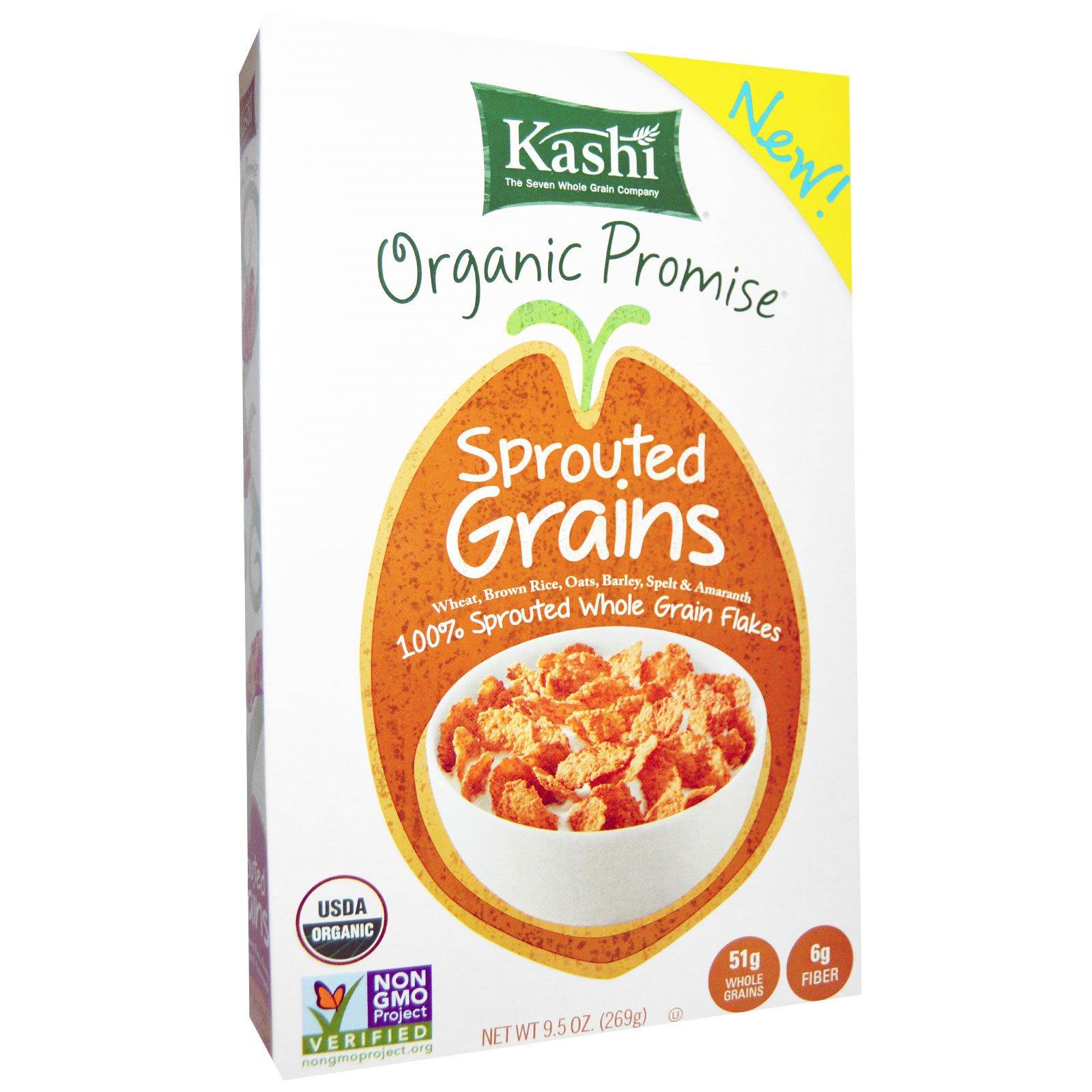 Kashi, Органические, проросшие зерна, хлопья, 9,5 унций (269 г)