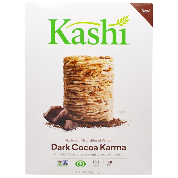 Kashi, Dark Cocoa Karma Cereal, 16.1 oz (456 g) (Discontinued Item)