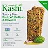 Kashi, Savory Bars، باسيل وفاصوليا بيضاء وزيت الزيتون، 10 بار، 5-2 أكياس، 1.05 أوقية (30 جم) كل (Discontinued Item)