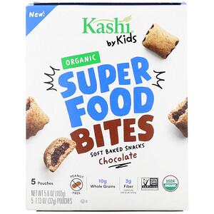 Каши, Kashi By Kids, Organic Super Food Bites, Chocolate, 5 Pouches, 1.13 oz (32 g ) Each отзывы покупателей