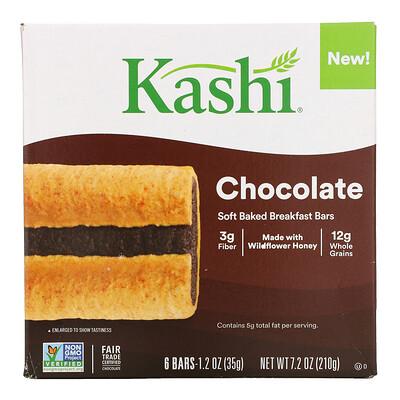 Купить Kashi Soft Baked Breakfast Bar, Chocolate, 6 Bars, 1.2 oz (35 g ) Each