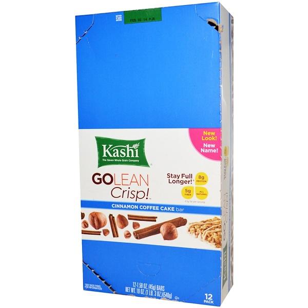 Kashi, GoLean Crisp!, Cinnamon Coffee Cake Bar, 12 Bars, 1.59 oz (45 g) Each (Discontinued Item)
