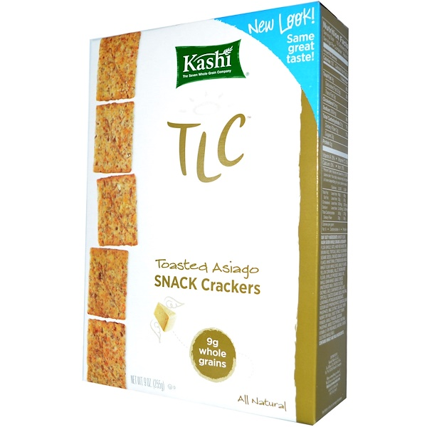 Kashi, TLC, Snack Crackers, Toasted Asiago, 9 oz (255 g) (Discontinued Item)