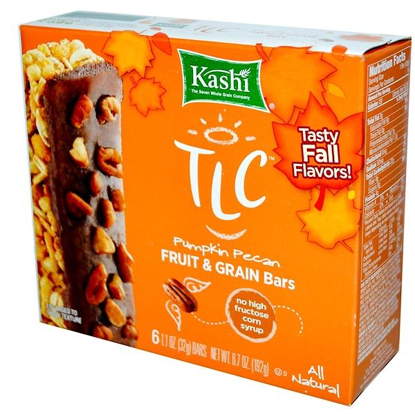 Kashi, TLC, Fruit & Grain Bars, Pumpkin Pecan, 6 Bars, 1.1 oz (32 g) Each (Discontinued Item)