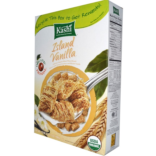 Kashi, Island Vanilla Whole Wheat Cereal, 1 lb  (17.5 oz)  (Discontinued Item)