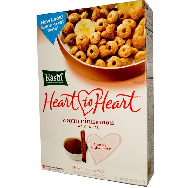 Kashi, Heart to Heart, Oat Cereal, Warm Cinnamon, 12.4 oz (352 g) (Discontinued Item)