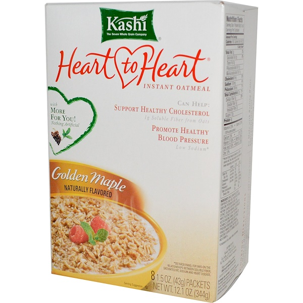 Kashi, Heart to Heart, Instant Oatmeal, 8 Packets, 1.5 oz (43 g) Each (Discontinued Item)