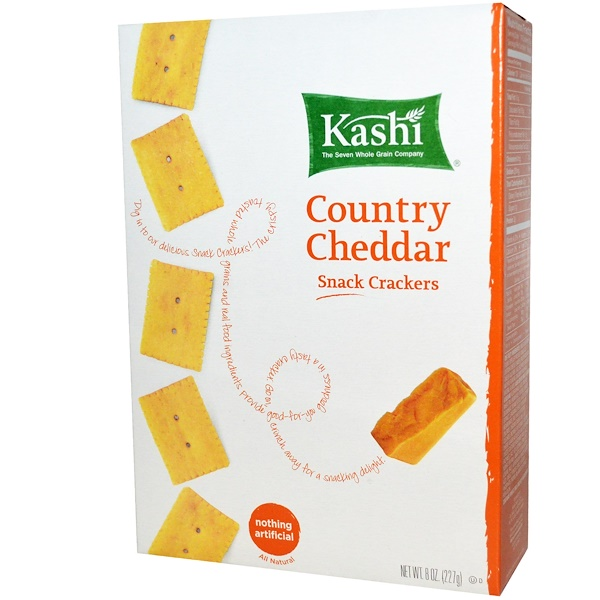 Kashi, Snack Crackers, Country Cheddar, 8 oz (227 g) (Discontinued Item)