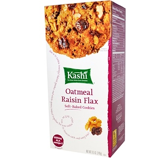 Kashi, Soft-Baked Cookies, Oatmeal Raisin Flax, 8.5 oz (240 g)