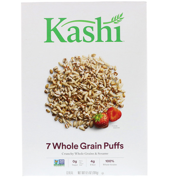 Kashi, 7 Whole Grain Puffs, 6.5 oz (184 g)